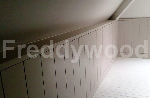 inbouwkasten berging zolder schuin dak maatwerk meubilair schrijnwerk meubelschrijnwerk