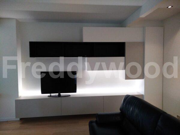 tvmeubel wandmeubel modern strak maatwerk meubilair schrijnwerk meubelschrijnwerk