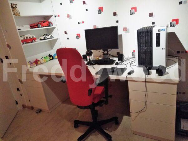 jeugdkamer bureau kantoor home office meubelschrijnwerk maatwerk meubilair schrijnwerk